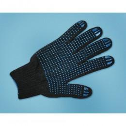 Перчатки рабочие трикотажные с ПВХ 5 нитей 10 класс черные